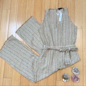 NWT $299!  Anthropologie linen jumpsuit, S.